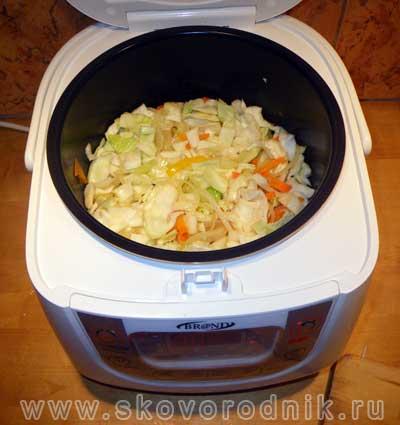 Тушеная капуста с картошкой в мультиварке поларис рецепты